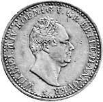 Taler Hannover Wilhelm IV. Silber 1834-1835 vz