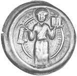 Brakteat Halberstadt Bischof Gero von Schermbke 1160-1177 Vorzüglich