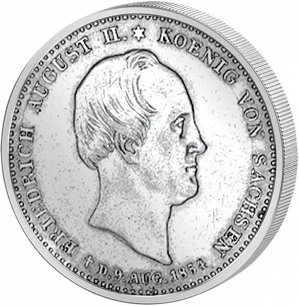 1/6 Taler Sachsen König Friedrich August II. 1854 ss-vz
