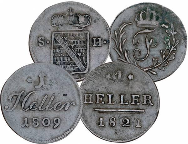 2 x Heller Sachsen-Hildburghausen Herzog Friedrich