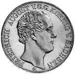 Taler Doppeltaler Friedrich August II. 1839-1843 Sehr schön