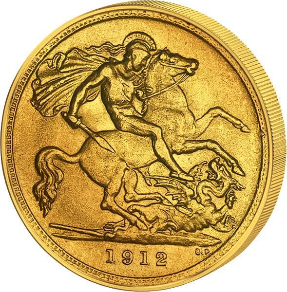 1 Sovereign Großbritannien King Georg V. JuW