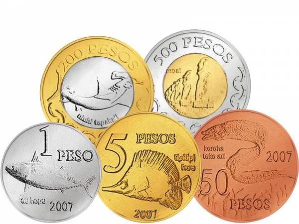1 - 500 Pesos Osterinseln 2007