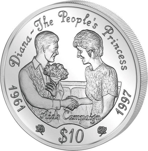 10 Dollars Sierra Leone Lady Diana 1997 Polierte Platte