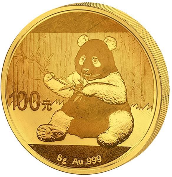 100 Yuan China Panda 2017