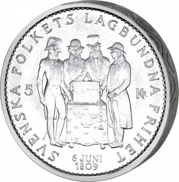 5 Kronen Schweden 150 Jahre Verfassung 1959