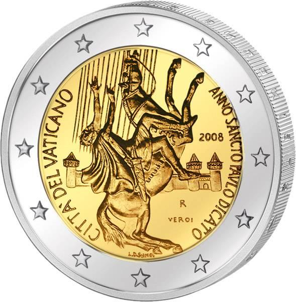 2 Euro Vatikan Paulusjahr 2008 Stempelglanz