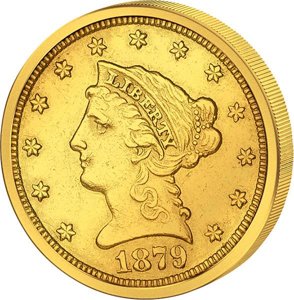 5 Dollars USA Liberty-Kopf 1839-1908 ss-vz