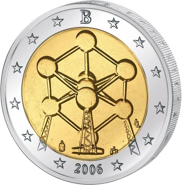 2 Euro Belgien Atomium Brüssel 2006   prägefrisch