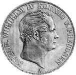 Doppeltaler Silber Friedrich Wilhelm IV. 1843-1851  ss-vz