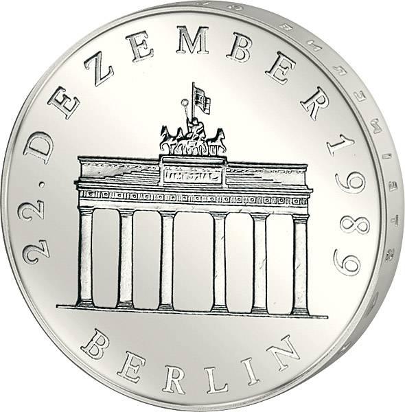 20 DDR-Mark Brandenburger Tor 22. 1990 A vorzüglich