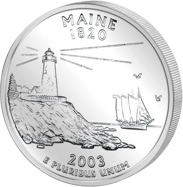 Quarter Dollar USA Maine 2003