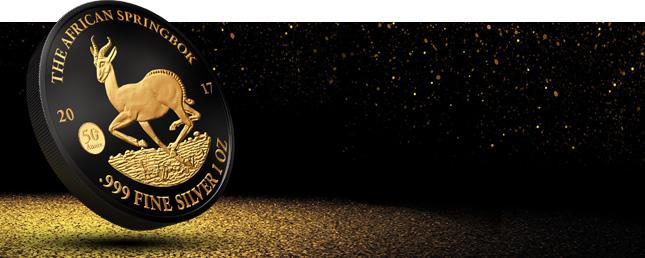 1 Unze Gabun 2017 – Golden Enigma Springbock