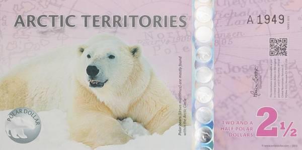 2,5 Dollars Arctic Territories Polar-Dollar - Polarbär 2010