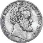 2 Mark Reuß Greiz Heinrich XXII. 1892 Sehr schön