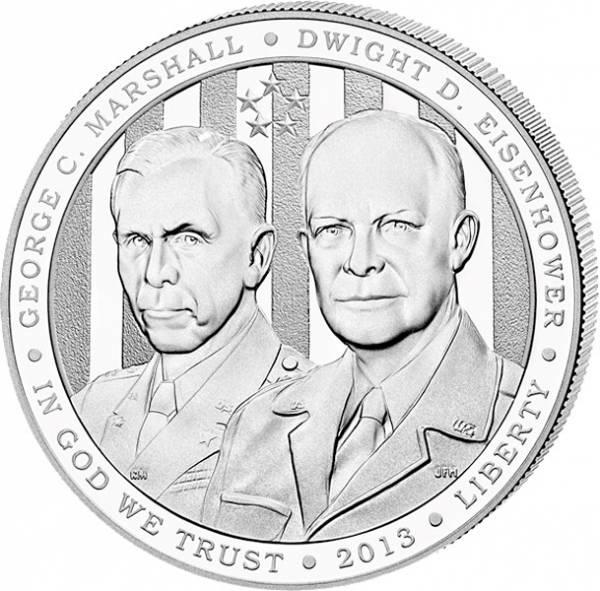 1 Dollar USA Marshall Eisenhower 2013 Polierte Platte (PP)