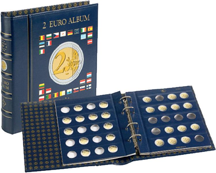 Vordruckalbum Europas 2 Euro Gedenkmünzen Münz Alben
