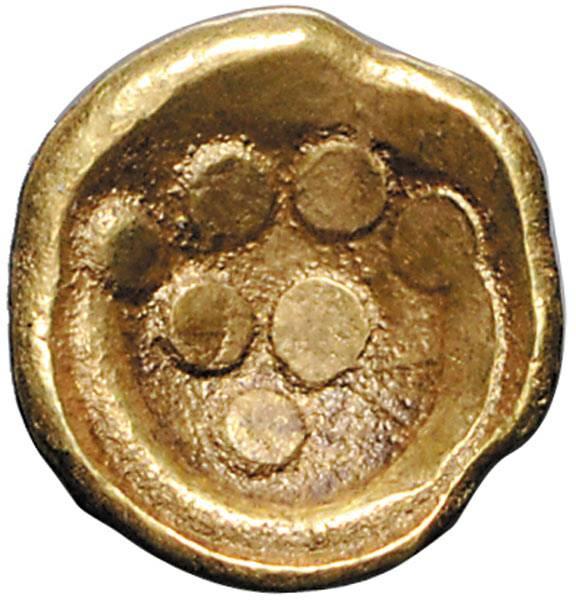 Gold-Stater Keltenstamm der Vindeliker Regenbogenschüsselchen