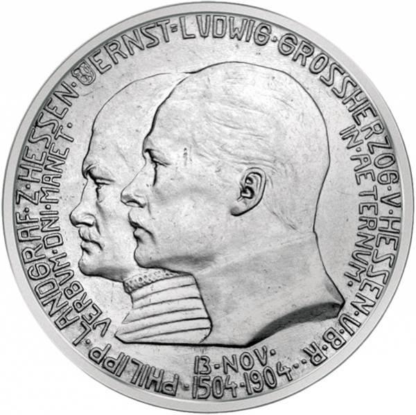 2 Mark Hessen Darmstadt Philipp 1904 Vorzüglich