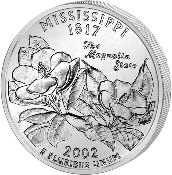 Quarter Dollar USA Mississippi 2002