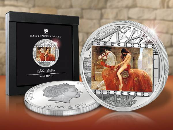 20 Dollars Cook-Inseln John Collier - Lady Godiva 2013   Polierte Platte