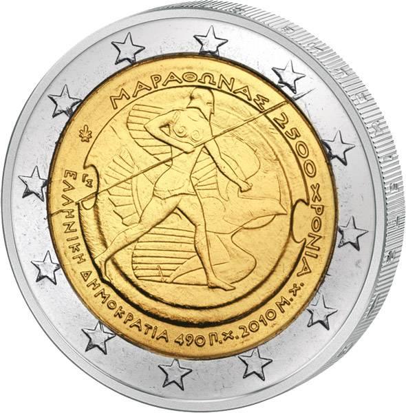 2 Euro Griechenland Schlacht von Marathon 2010 prägefrisch