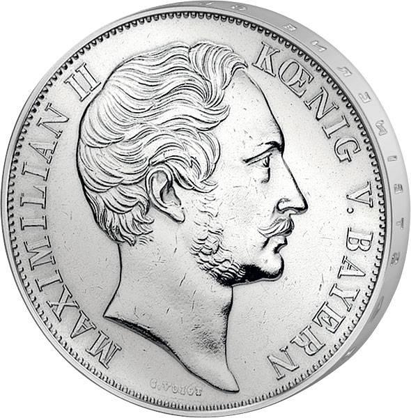 Taler Doppelgulden Mariensäule 1855  vorzüglich