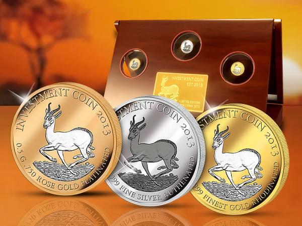 Investment Coin-Set Springbock 2013
