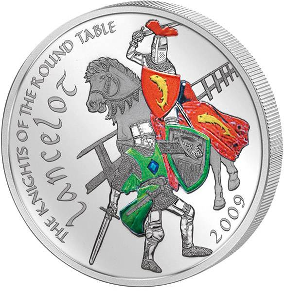 5 Dollars Cook-Inseln Lancelot Ritter der Tafelrunde 2009   Polierte Platte
