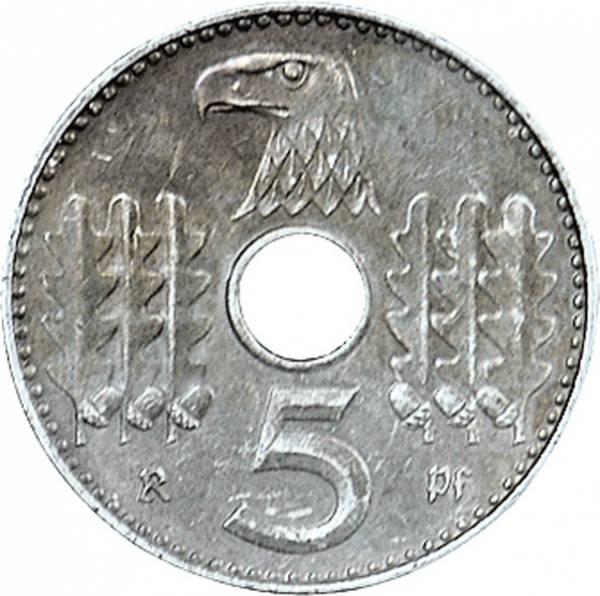 5 Pfennig Hakenkreuz Lochgeld