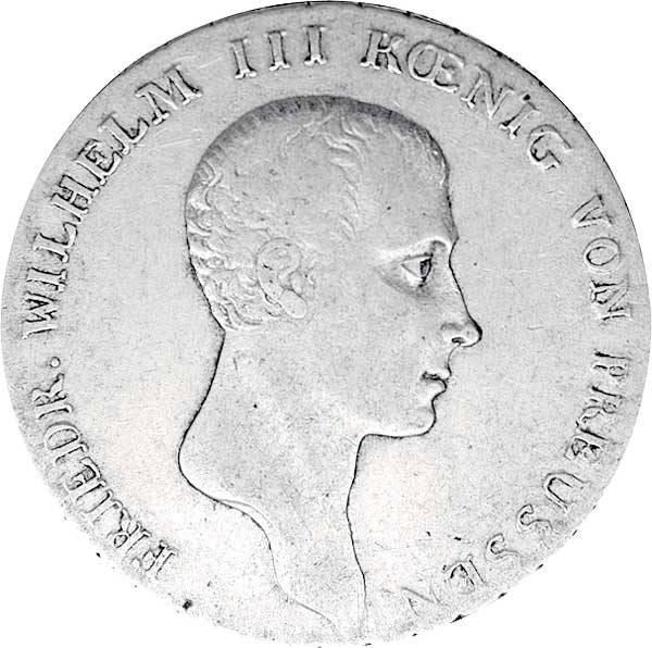 Taler  König Friedrich Wilhelm 1809-1816  Sehr schön