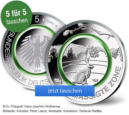 5 Euro Polymerring Münze 201