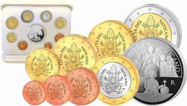 Euro-Kursmünzensatz Vatikan 2017 inklusive 20-Euro-Gedenkmünze