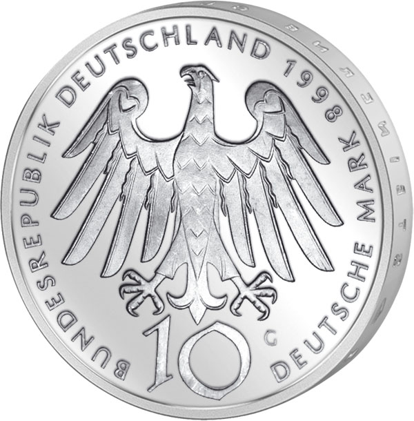 10 Dm Münze Brd Hildegard Von Bingen 1998 10 Dm Münzen Silber Dm