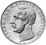 Taler Doppeltaler Georg V. 1854  vorzüglich