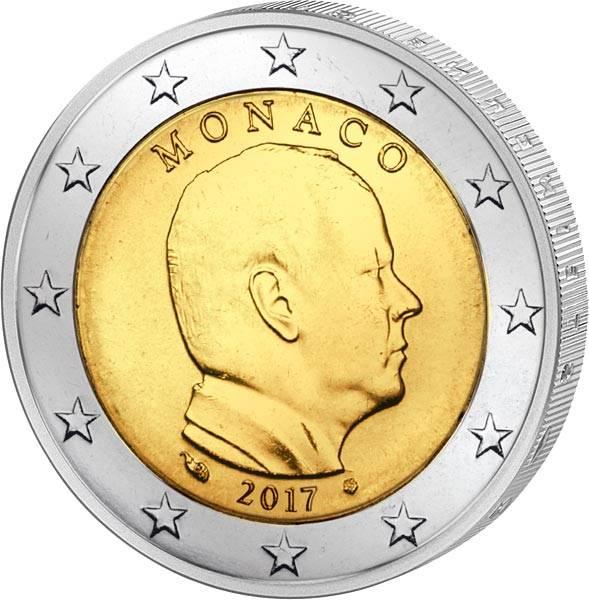 2 Euro Monaco Fürst Albert II. 2017