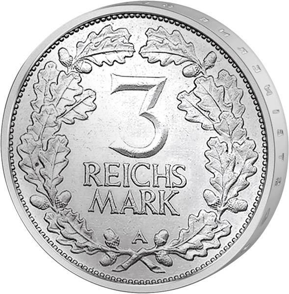 J. 321 3 Reichsmark Jahrtausendfeier der Rheinlande