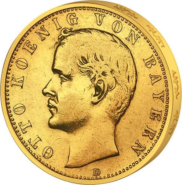 10 Mark Bayern Otto I. 1890-1900 Sehr schön