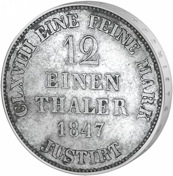 1/2 Taler Hannover König Ernst August 1838-1851 Sehr schön