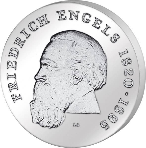 Motivprobe 20 Mark Friedrich Engels Alu-Abschlag 1970 A Stempelglanz