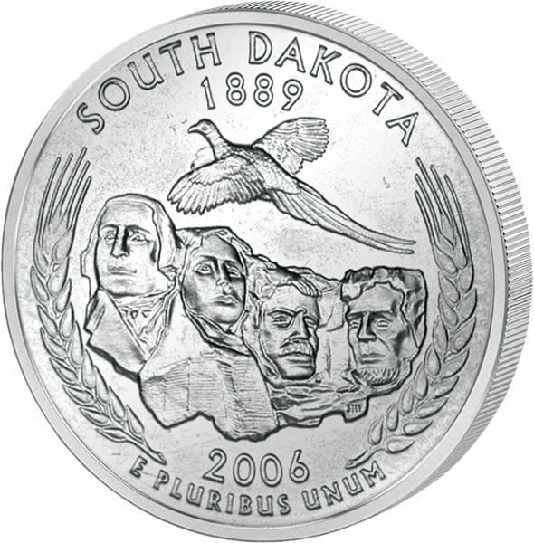 Quarter Dollar USA South Dakota 2006