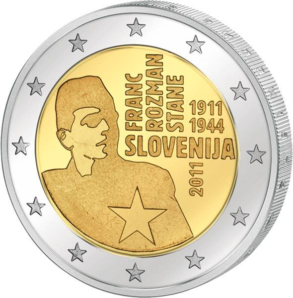 2 Euro Slowenien 100 Geburtstag von Franc Rozman