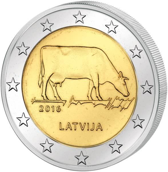 2 Euro Lettland Milchwirtschaft