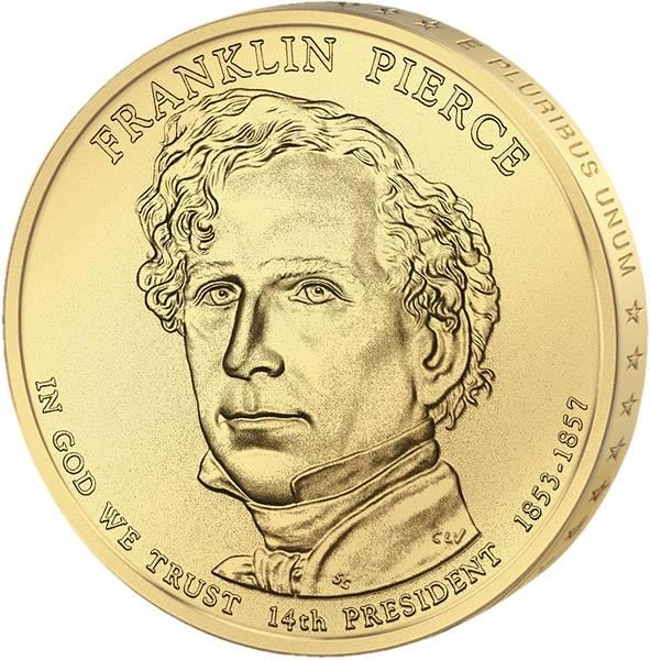 1 Dollar USA Franklin Pierce 2010 Stempelglanz