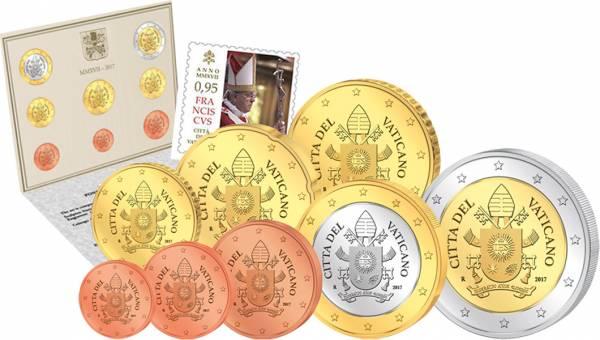 Euro-Kursmünzensatz Vatikan 2017 Ersttags-Edition