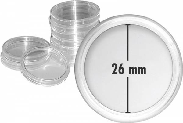 10er-Pack Münzkapseln Innendurchmesser 26 mm