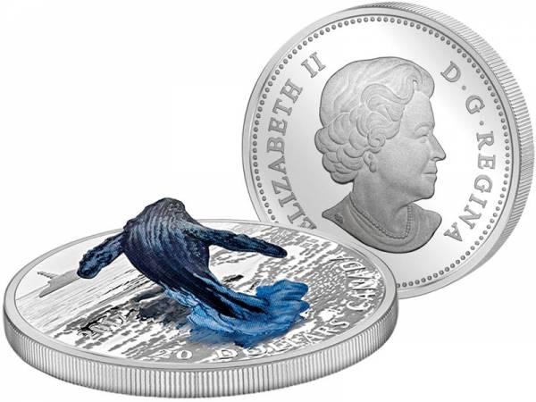 20 Dollars Kanada Auftauchender Wal 2017