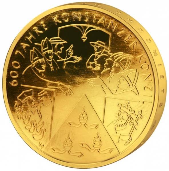10 Euro BRD 600 Jahre Konstanzer Konzil 2014 vollvergoldet
