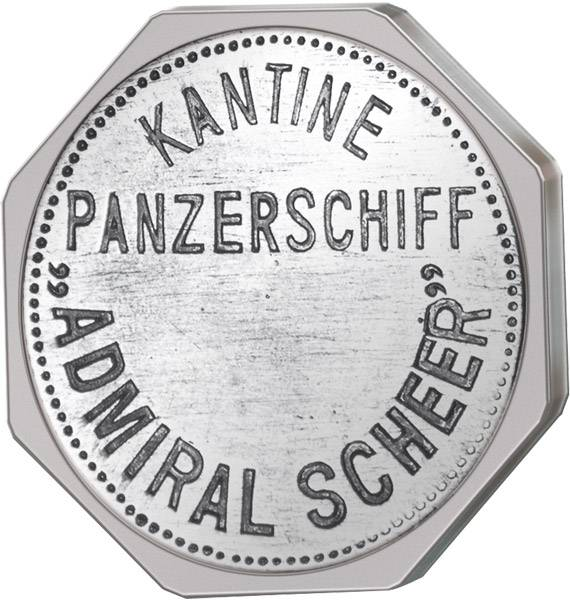 200 Pfennig Deutschland Kantinenmarke Panzerschiff ADM BRDiral Scheer prägefrisch