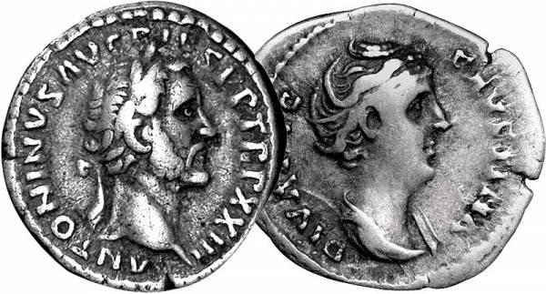2er Set Denar Römisches Reich 138-161 sehr schön